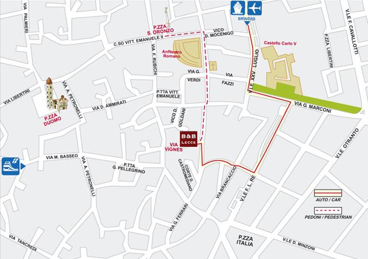 dove alloggiare a Lecce - b&b centro storico